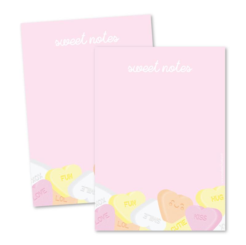 Notitieblok   Sweet notes