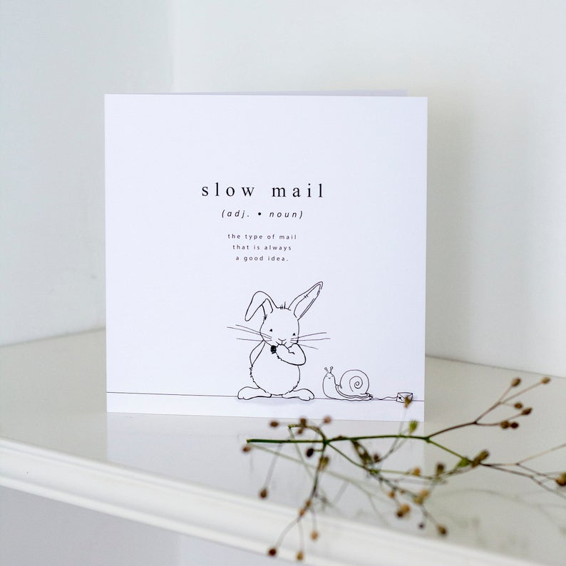 Wenskaart | Slow mail