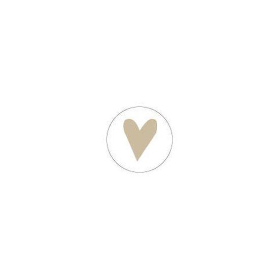 Stickers | Hartje wit goud | 10 stuks