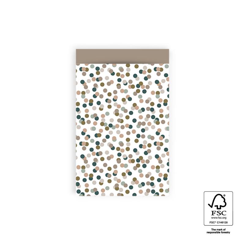 Cadeauzakje M | Confetti | taupe | 5 stuks