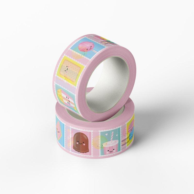 Washitape met postzegels