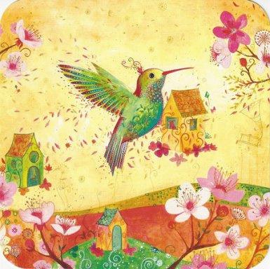 Postkaart | Hummingbird | 14x14