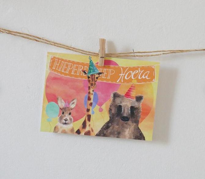 Postkaart | Vrolijke verjaardagskaart