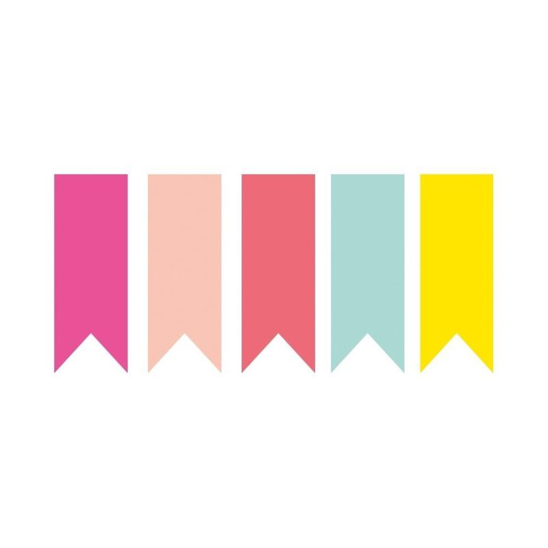 Stickers | Neon wimpel 5 stuks