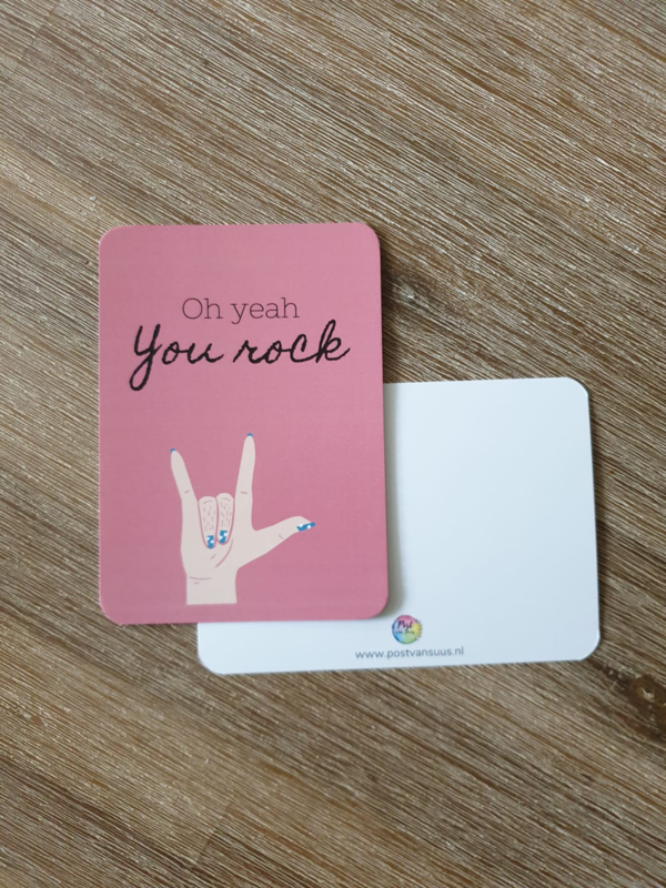 Postkaart   Oh yeah you rock