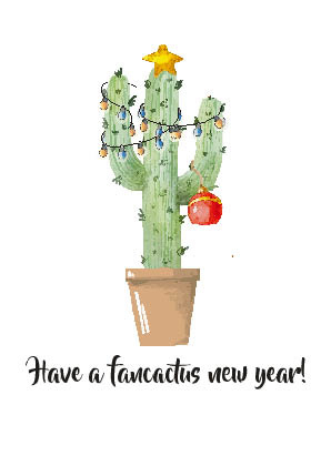 Postkaart | Have a fancactus new year