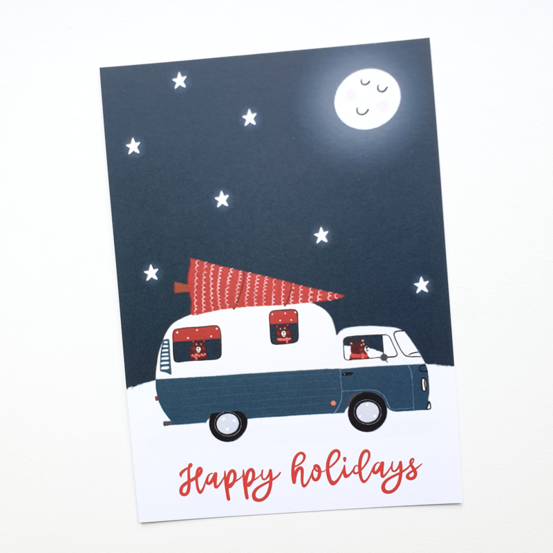 Postkaart | Happy holiyays
