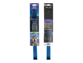 Night Dog Lichtgevende LED Honden Halsband Blauw - Maat M