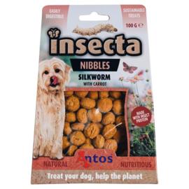 Insecta Nibbles - Zijderups & Wortel Insecten Snacks