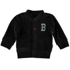 B.E.S.S. Cardigan Velvet Striped Black