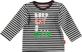B.E.S.S. Shirt Striped White
