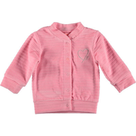 B.E.S.S. Cardigan Velvet Striped Pink