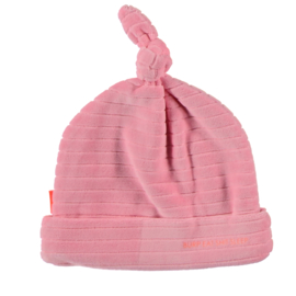 B.E.S.S. Hat Velvet Striped Pink