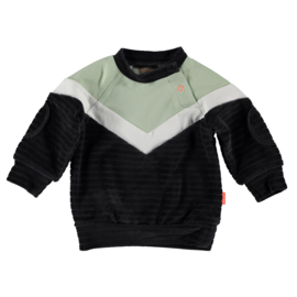 B.E.S.S. Sweater Velvet Colorblock