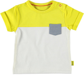 B.E.S.S. Shirt Colorblock Yellow