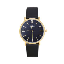 Horloge x zwart gold