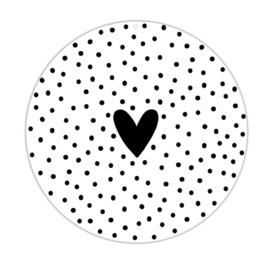 Roundie 30cm buiten - Hart Dots - Winkeltje van Anne - PAKKETPOST!