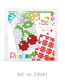 Pixel sleutelhanger set compleet - Kers