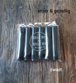 Diner kaarsjes- Zwart - Rustyk