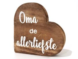 1315 Hart De Liefste Oma Naturel - Woodart