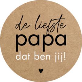 De liefste Papa Kraft/zwart  - 10 stuks - Kado etiket