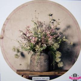 Muurcirkel 365 Bloemen