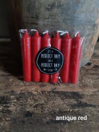 Kaarsen Rustyk - 6 stuks - Rood