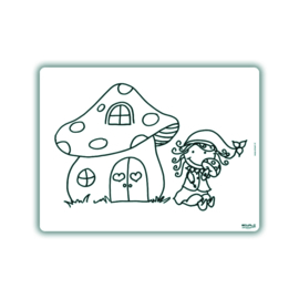 Herkleurbare placemat - Paddestoel - Pakketpost