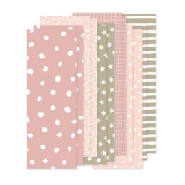 Papiersoorten roze 12 stuks - Annie with the Bamboo