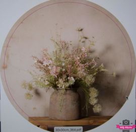 Muurcirkel 364 Bloemen