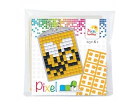 Pixel sleutelhanger set compleet - Bijtje