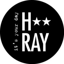 Hray zwart/wit - 10 stuks - Kado etiket