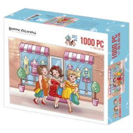 Puzzel Dikke dames - Shopping - 1000 stukjes - PAKKETPOST!