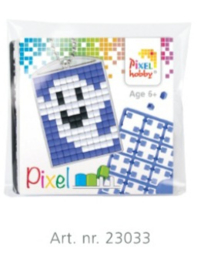 23033 Pixel sleutelhanger set compleet - Spookje