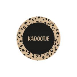 Kadootje 45mm zwart/kraft - 10 stuks - Kado etiket