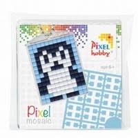 23012 Pixel sleutelhanger set compleet - Pinquin