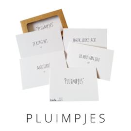 Pluimpjes set 1 - Liefs op papier