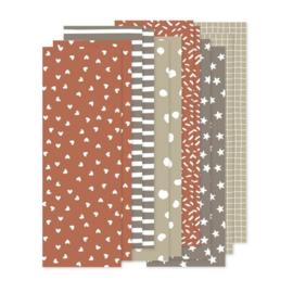 Papierstroken roest/beige 12 stuks - Annie with the Bamboo