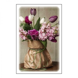 GvN023 Geurzakje met envelopje - Blanco - Tulpen