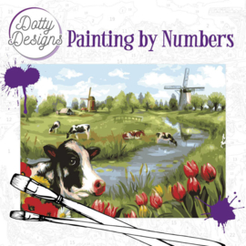DDP10014 Schilderen op nummer - Koeien/Holland - Pakketpost