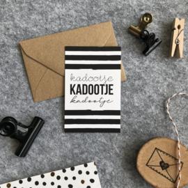 Mini kaartjes met kraft envelop- Kadootje - 2 stuks - Studio Thoés