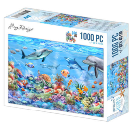 Puzzel Onderwater wereld 1000 stukjes - Pakketpost