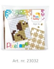 Pixel sleutelhanger set compleet - Puppie rechts