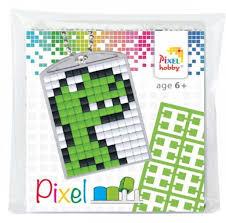 23029 Pixel sleutelhanger set compleet - Draak