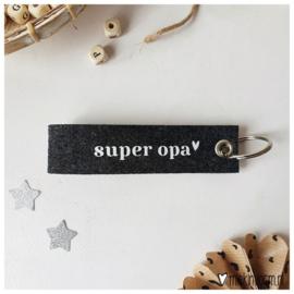 Sleutelhanger luxe Opa - Miek in vorm