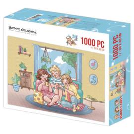Puzzel Dikke dames Tea Time - 1000 stukjes - PAKKETPOST!