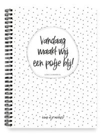 Notitie Boek Vandaag maakt mij potje blij Dots - Winkeltje van Anne