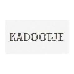 Kadootje 3.8x2cm  wit/zwart - 10 stuks - Kado etiket