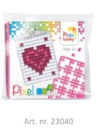 Pixel sleutelhanger set compleet - Hartje