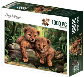 Puzzel wilde dieren 1000 stukjes - PAKKETPOST!